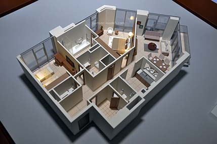 Interior Scale Model Makers 3d View Of Your Space Artistic