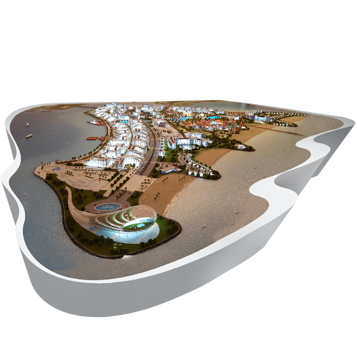 Master Plan Model of Island Project