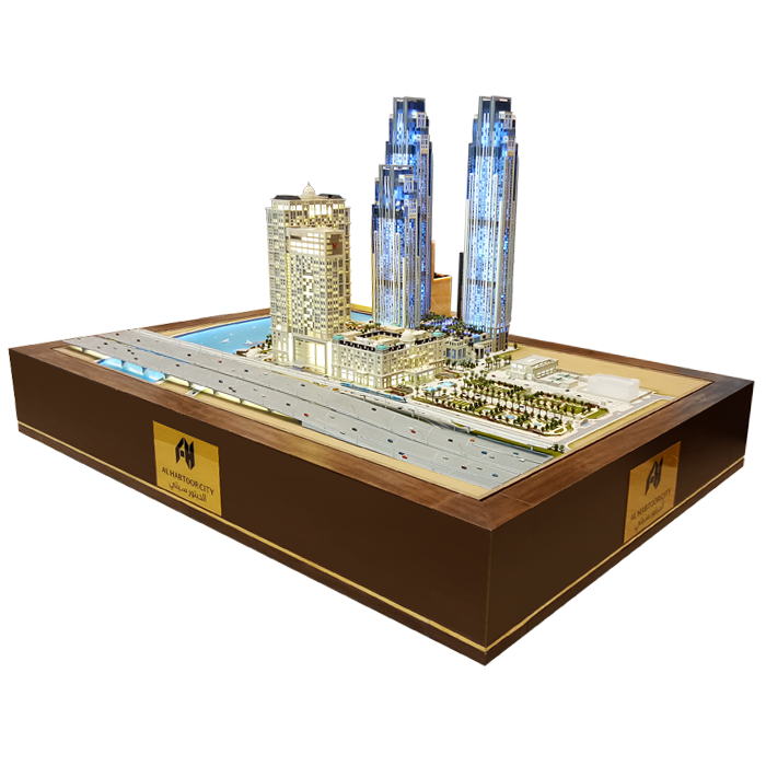 Architectural Model of Al Habtoor City